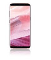 Samsung Galaxy S8 pink + Cover